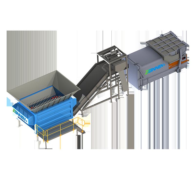 固定式大件垃圾處理成套設備ZN3000-E